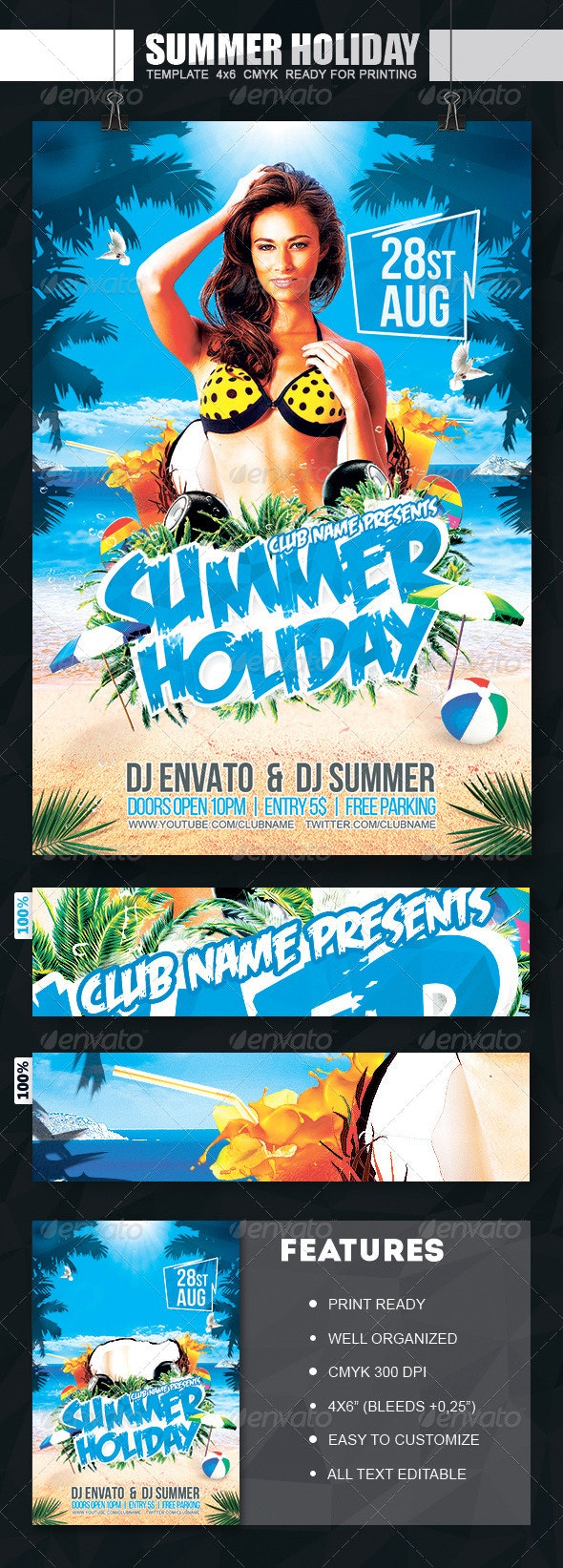 Summer Holiday Flyer - Events Flyers