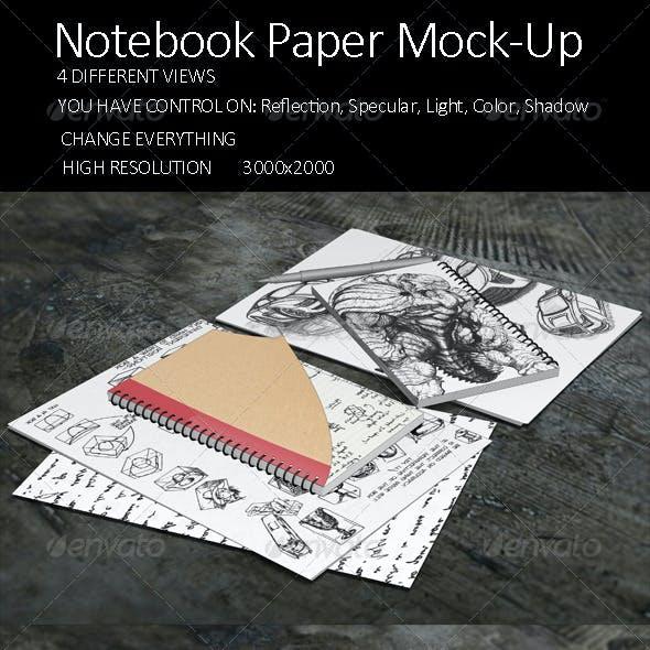 Notebook Paper Mock Up