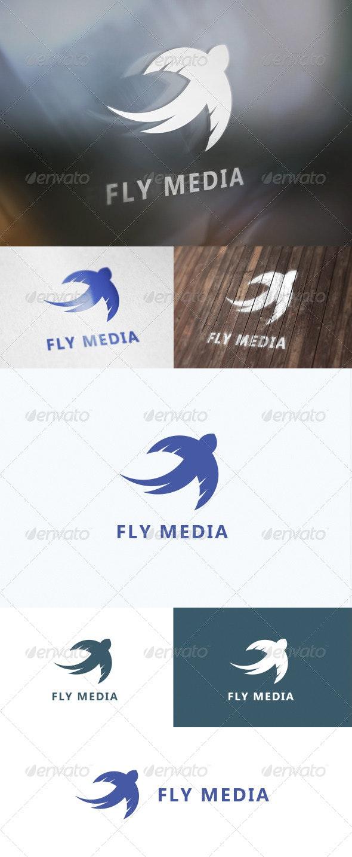 Fly Media Logo - Animals Logo Templates