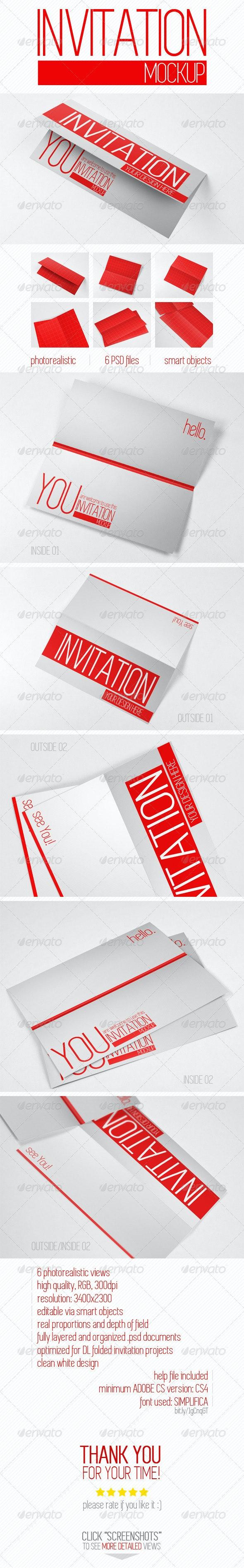 Invitation Mockup - Miscellaneous Print