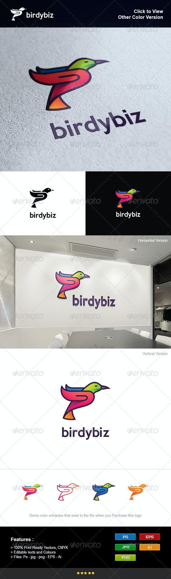 Colorful Business Bird - Animals Logo Templates