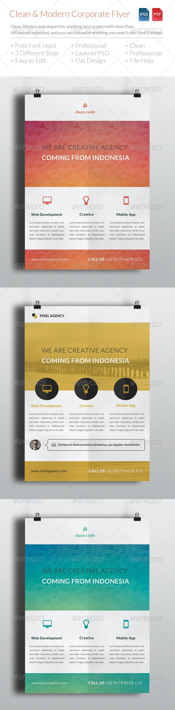 Clean & Modern Corporate Flyer Template V5 - Corporate Flyers