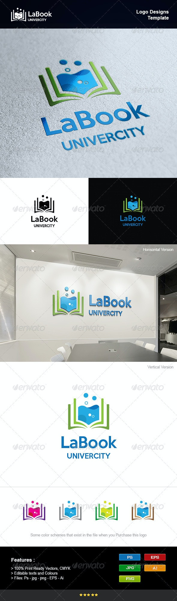 Book Lab - Objects Logo Templates