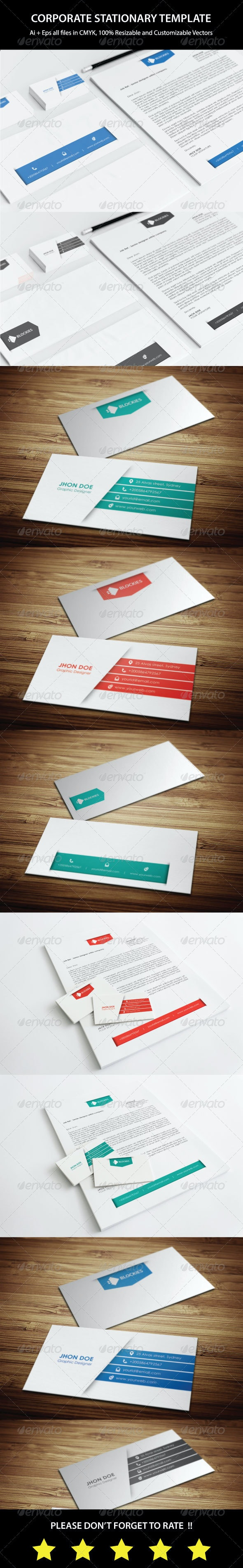 Corporate Stationery Template V.1 - Stationery Print Templates