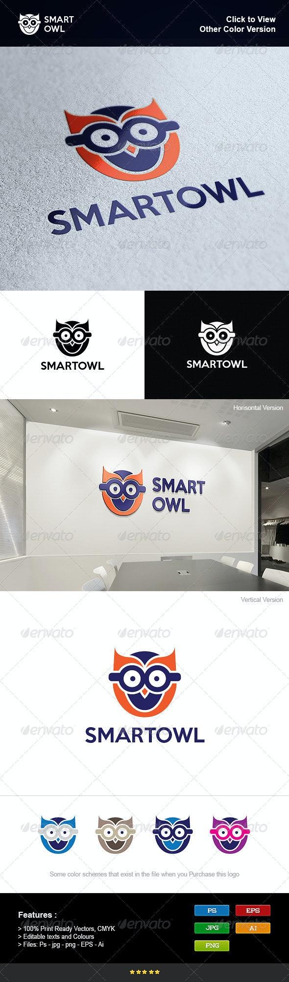 Smart Owl School - Animals Logo Templates