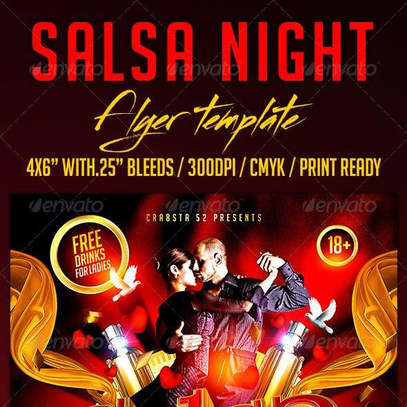 Salsa Night Flyer Template