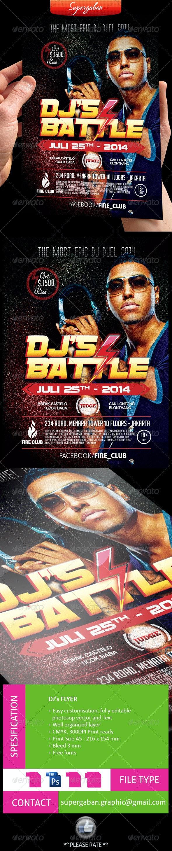 DJ Battle Flyer - Events Flyers