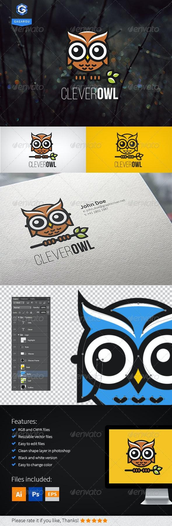 Clever Owl Logo - Animals Logo Templates