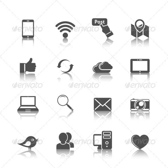 Social Networking Icons - Web Icons