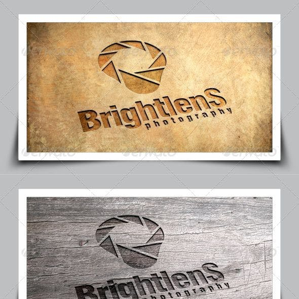 Bright Lens Photography Logo Template
