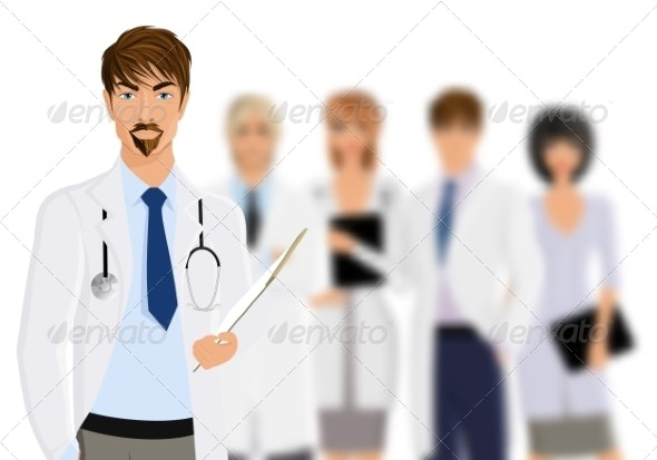 Doctor with Medical Staff - Health/Medicine Conceptual