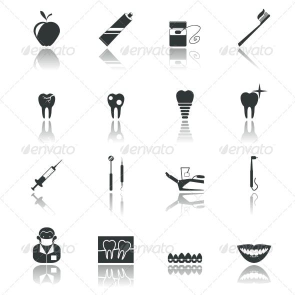Black Dental Icons