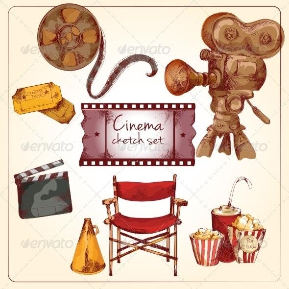 Cinema Colored Sketch Set - Media Technology