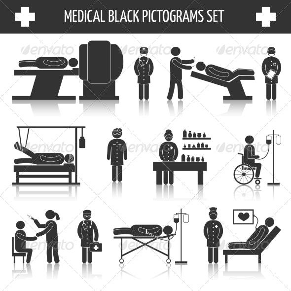 Medical Pictograms Set - Health/Medicine Conceptual