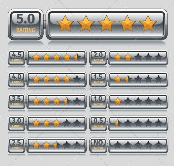 Rating Stars Set - Web Technology
