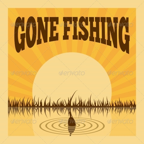 Fishing Poster - Backgrounds Decorative