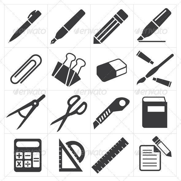 Icon Stationary Education  - Web Elements Vectors