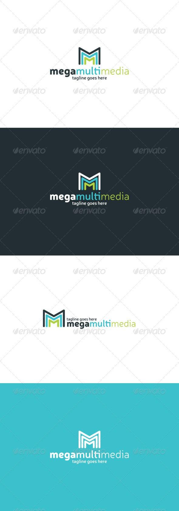 Mega Multi Media Logo — Letter M - Letters Logo Templates