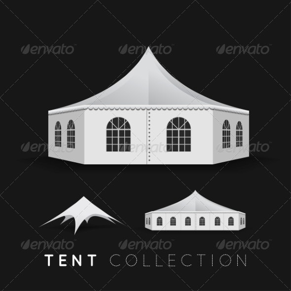 Set of Tents - Man-made Objects Objects