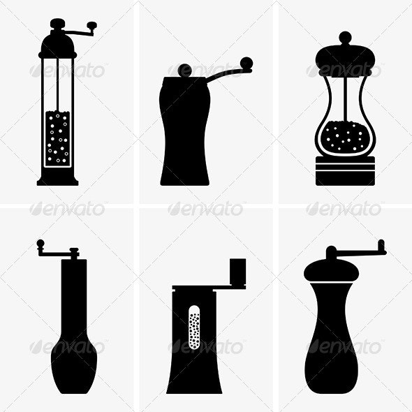 Spice Mills - Man-made Objects Objects