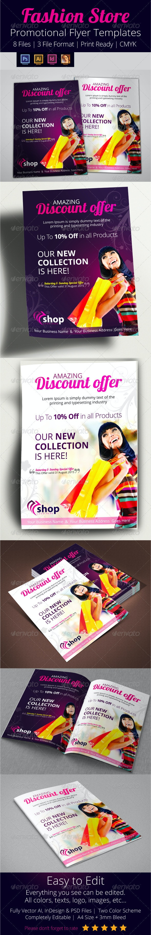 Fashion Store Promotional Flyer Template - Commerce Flyers