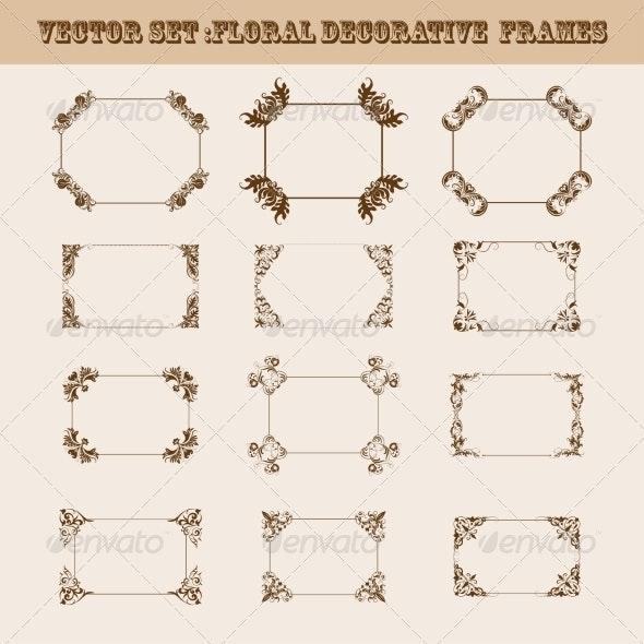 Set of Decorative Frames - Patterns Decorative