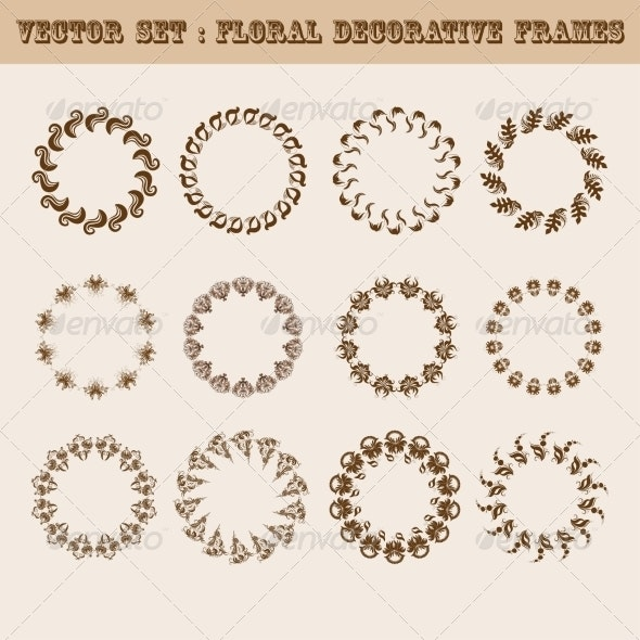 Set of Floral Frames - Patterns Decorative