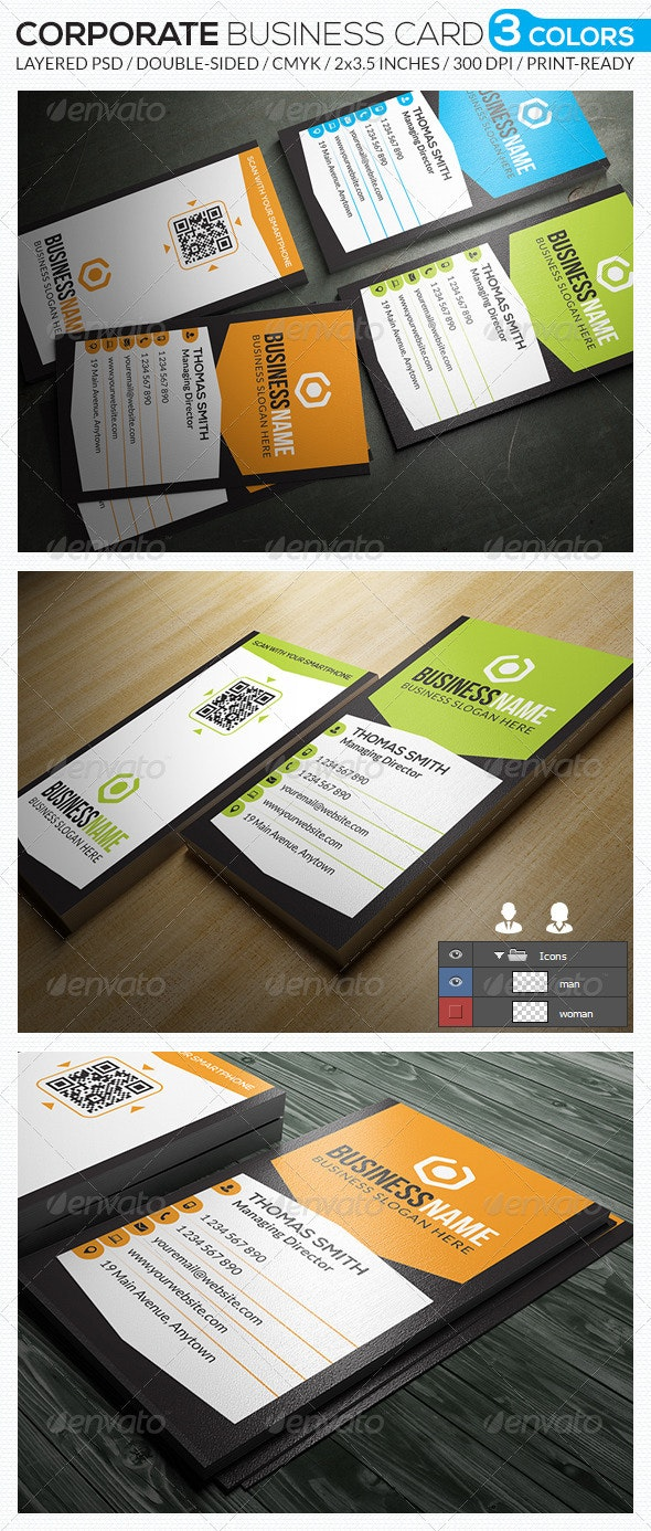 Corporate Business Card - RA41 - Corporate Business Cards