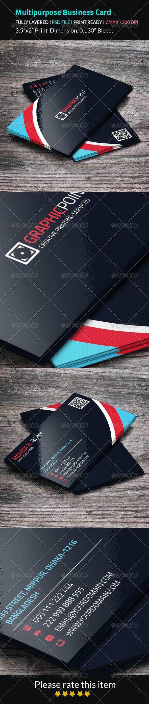 Multipurpose Business Card - Business Cards Print Templates