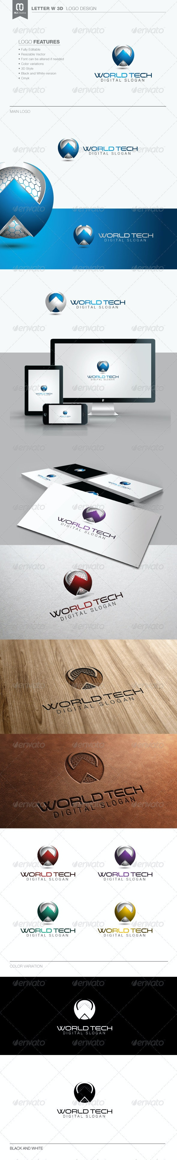 Letter W 3D Logo - 3 - 3d Abstract