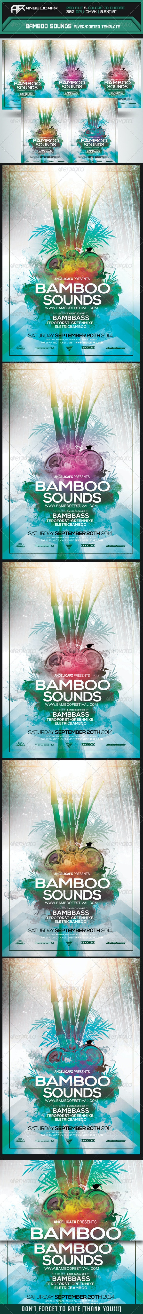 Bamboo Sounds Flyer/Poster Template - Flyers Print Templates