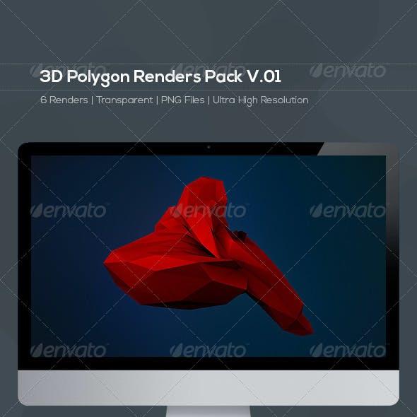 3D Polygon Renders Pack V.01
