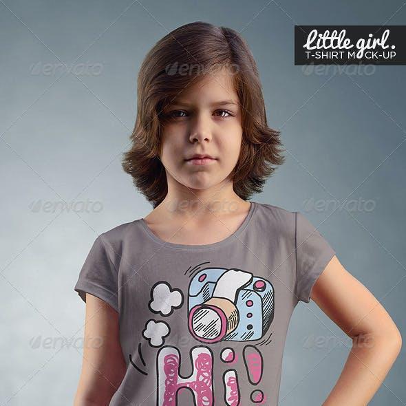 Little Girl / T-Shirt Mock-Up