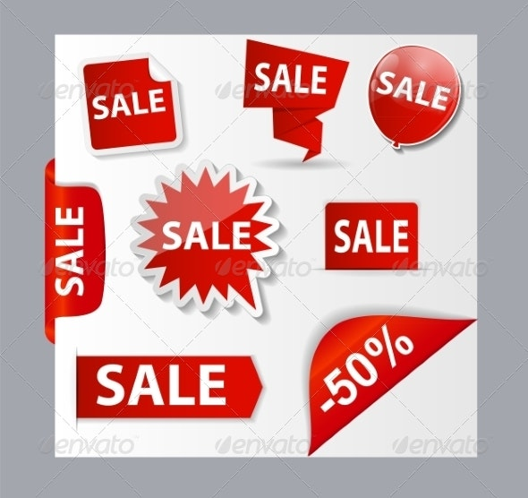 Sale Banner Set with Place for Your Text - Retail Commercial / Shopping