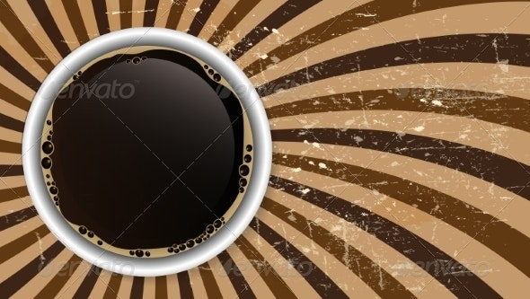 Abstract Coffee Background Vector Illustration - Backgrounds Decorative
