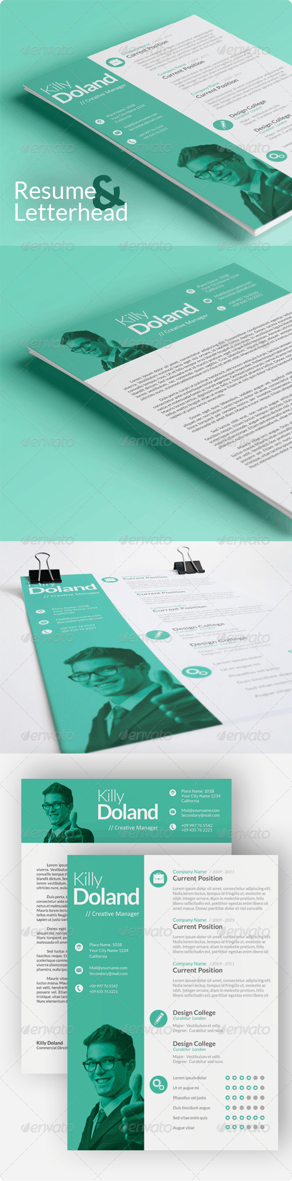 Rohman Resume & Letterhead - Resumes Stationery
