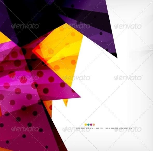 Modern 3D Glossy Overlapping Triangles - Miscellaneous Vectors