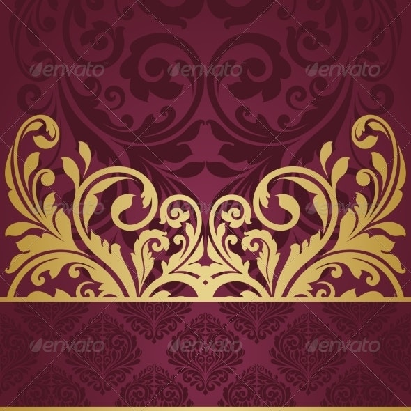 Floral Greeting Card. - Backgrounds Decorative