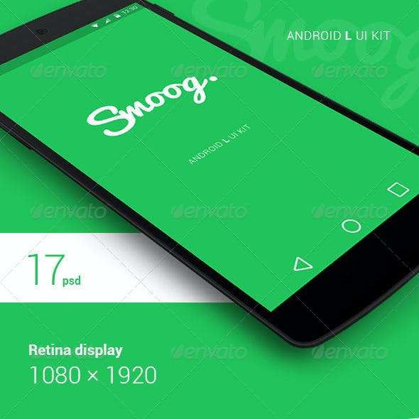 Smoog - Android L Mobile UI Kit
