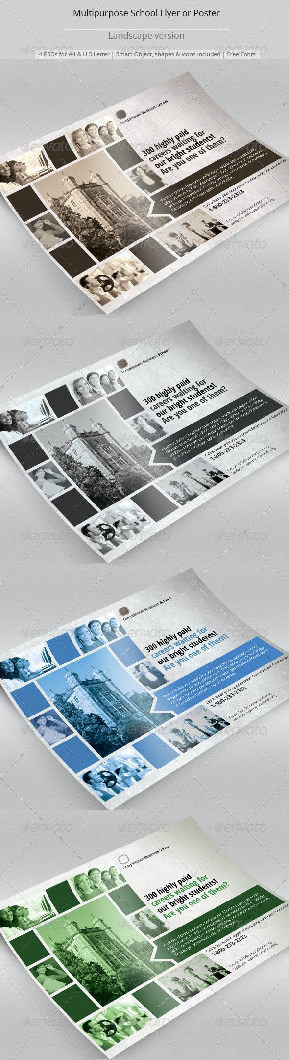 Multipurpose School Flyer or Poster - Flyers Print Templates