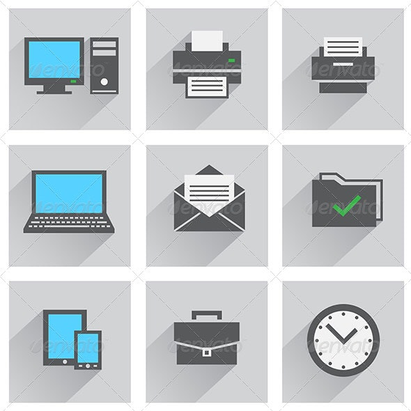 Office Icon Set - Computers Technology
