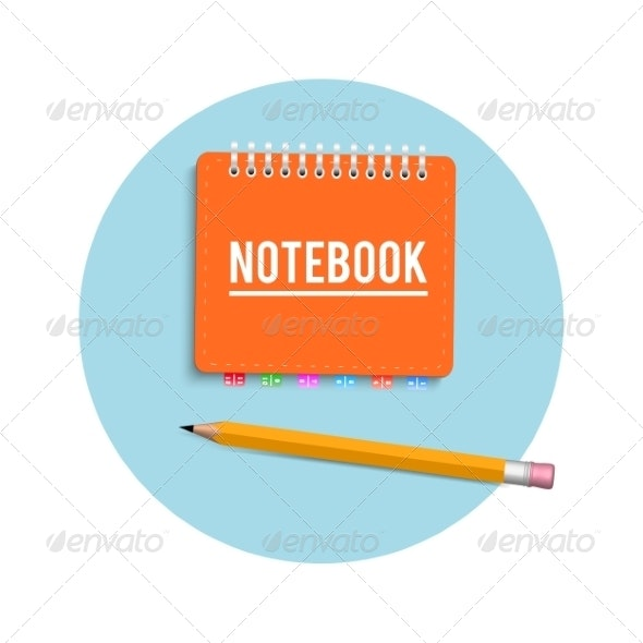Notebook and Pencil - Man-made Objects Objects