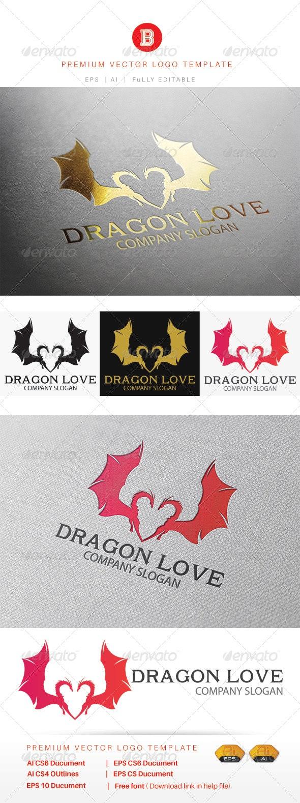 Dragon Love - Animals Logo Templates
