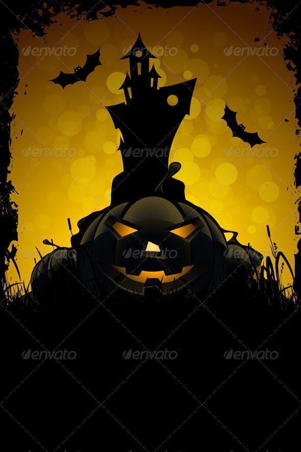 Halloween Party Card - Halloween Seasons/Holidays