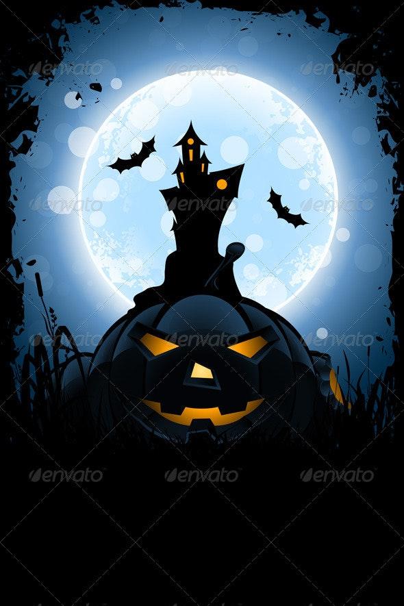 Grungy Halloween Card - Halloween Seasons/Holidays