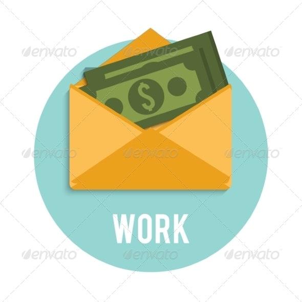 Money Dollar Bills in an Open Envelope - Concepts Business
