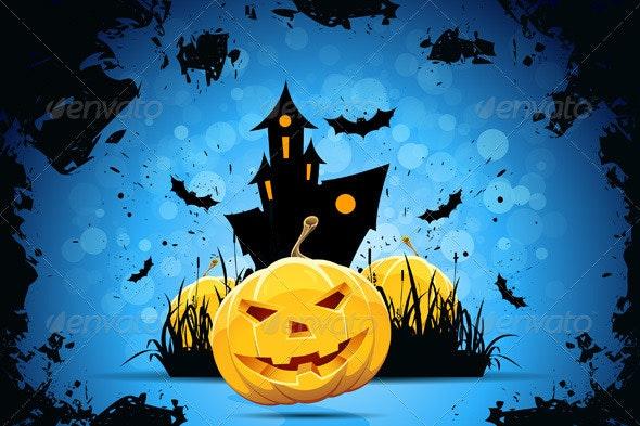 Grunge Halloween Party Background - Halloween Seasons/Holidays