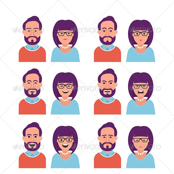 Facial Expressions of Woman and Man