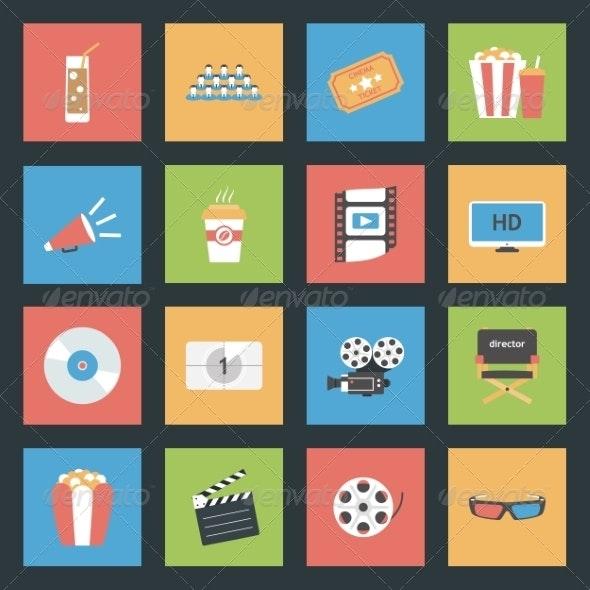 Popcorn Flat Icon - Web Technology