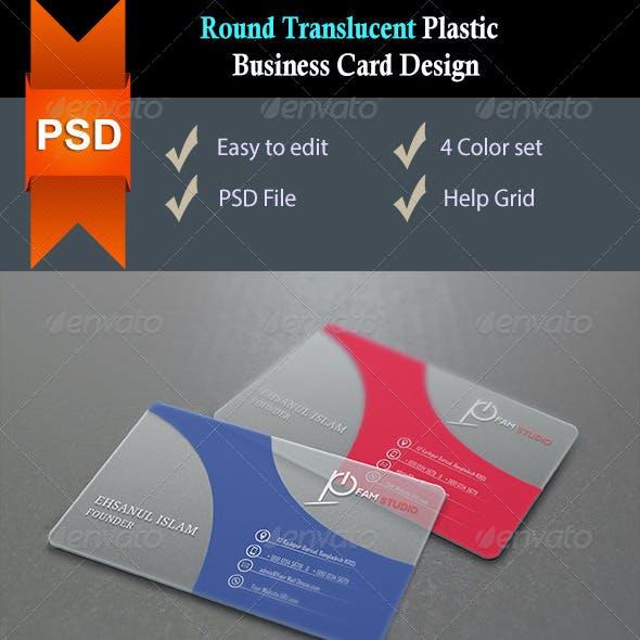 Round Corners Translucent Plastic Business Card